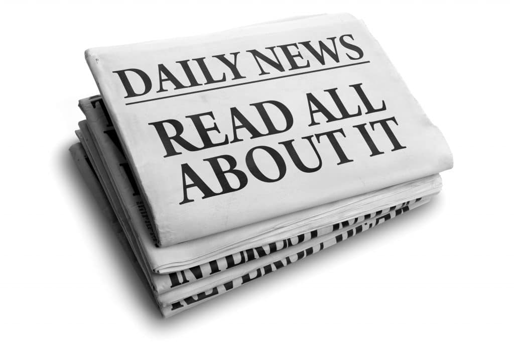 krant of magazine verspreiden read all about it